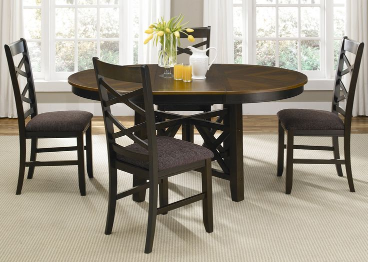Bistro II Round Oval Pedestal Dining Room Set Table Sets Bedroom Furniture Curio Cabinets And Solid Wood