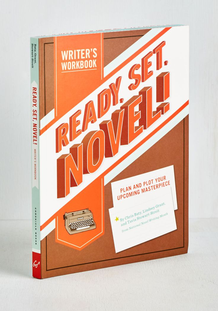 Ready, Set, Novel! Writer's Workbook by Chronicle Books - Scholastic/Collegiate, Good, Gals, Top Rated