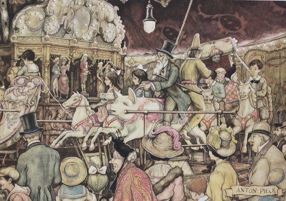 ANTON PIECK - The Merry-Go-Round  - PRINT