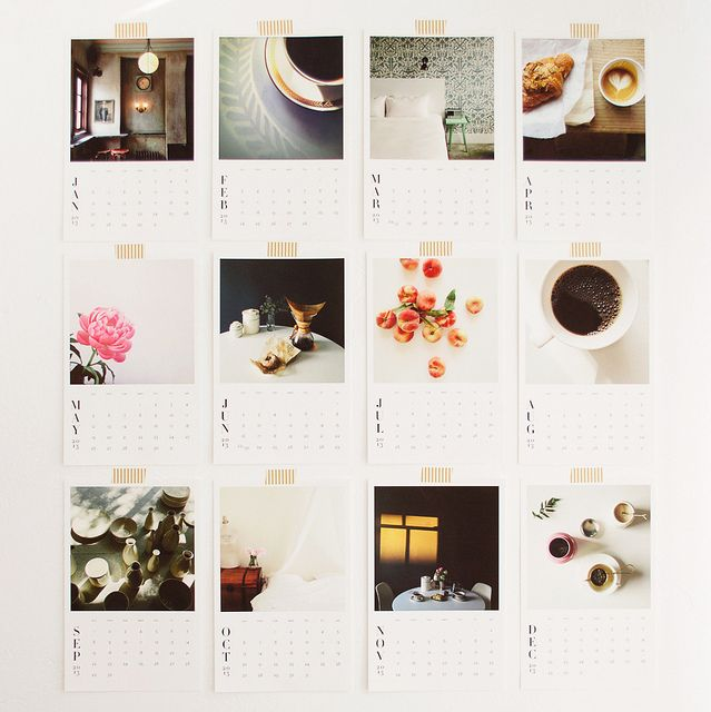 Cute DIY Instagram calendars. Cute New Years project- choose a photo from the same month of the previous year :)