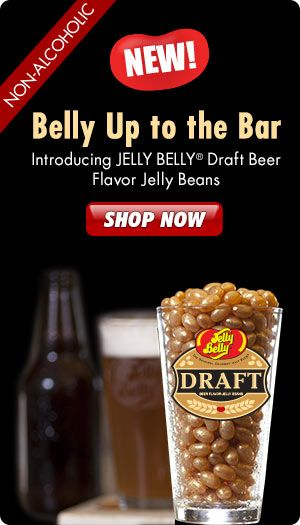 Belly Up to the Bar: Draft Beer Jelly Belly gourmet jelly beans are Back by Popular Demand! Enjoy the authentic taste of a freshly poured draft beer without the alcohol.
