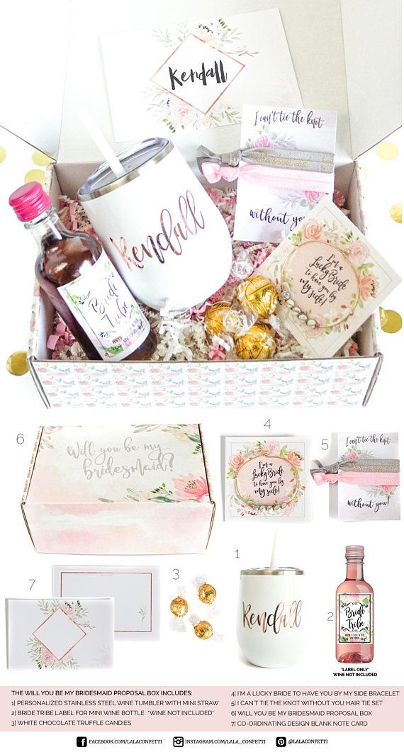 Bridesmaid Proposal, Will You Be My, Personalized Bridesmaid Gift Box Set, Ask Bridesmaid, Maid of Honor, Matron of Honor, Custom Wine Glass