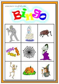fab family fun halloween bingo - Preschool Halloween Bingo