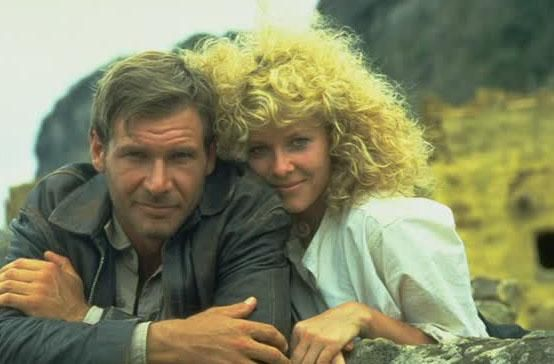 Harrison Ford As Indiana Jones And Kate Capeshaw From