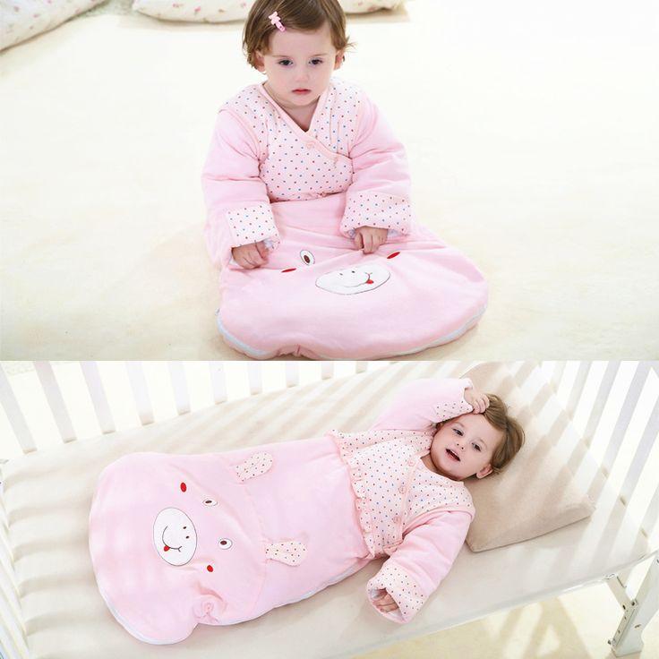 Autumn Winter Newborn Baby Sleeping Bag Children Anti Kick Detachable Sleeve Thickened Infant Baby Cartoon Sleepsack Bags C01