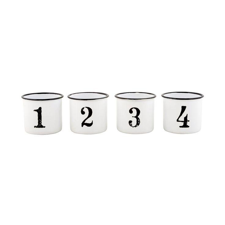 Fesselnd Die Entzückenden Emaille Becher Von Ib Laursen Mit Den Nummern 1 4u2026