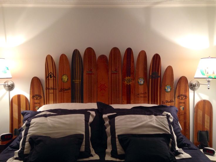 Wooden Water Ski Headboard