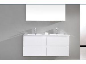 Madero 1220mm Double Vanity White