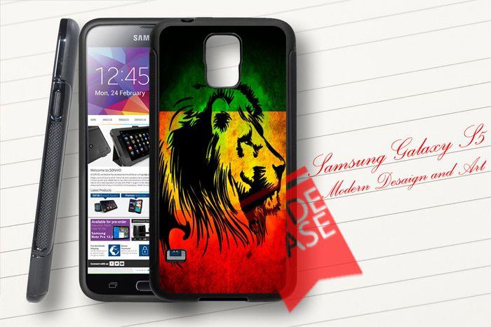 Samsung Galaxy S5 Custom RASTA LION Rubber Case #case #phonecase #phonecasedesign #rubbercase #customcase #galaxyS5case