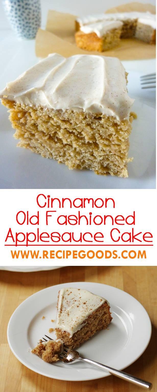 Applesauce in cake recipe