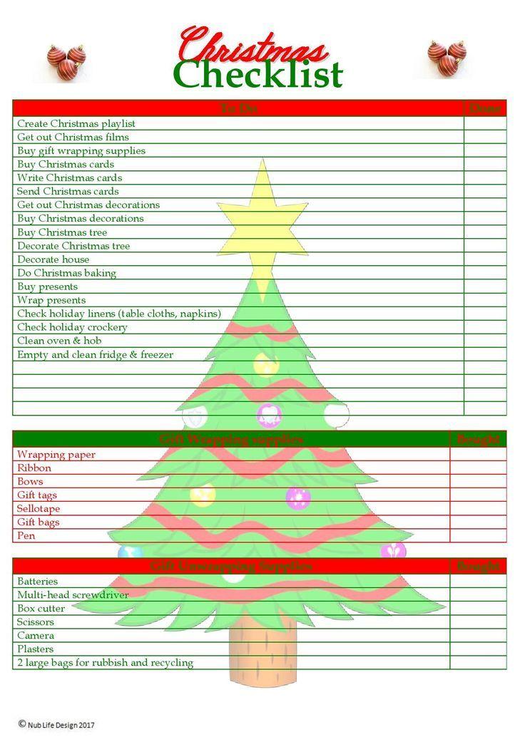 Christmas Checklist Planner Printable Etsy Christmas Checklist Christmas Checklist Planners Christmas Planner
