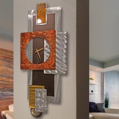Modern Abstract Clock Metal Wall Art Sculpture Original Jon Allen  Tectonic  | eBay & 141 best wall decor images on Pinterest | Wall sculptures Sculpture ...