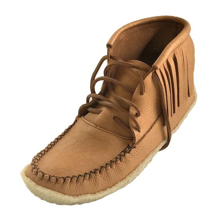 Men's Crepe Sole Moosehide Moccasin Boots B04219