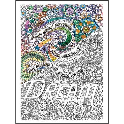 Dream Adult Coloring Canvas Kit w/ Markers Herrschners
