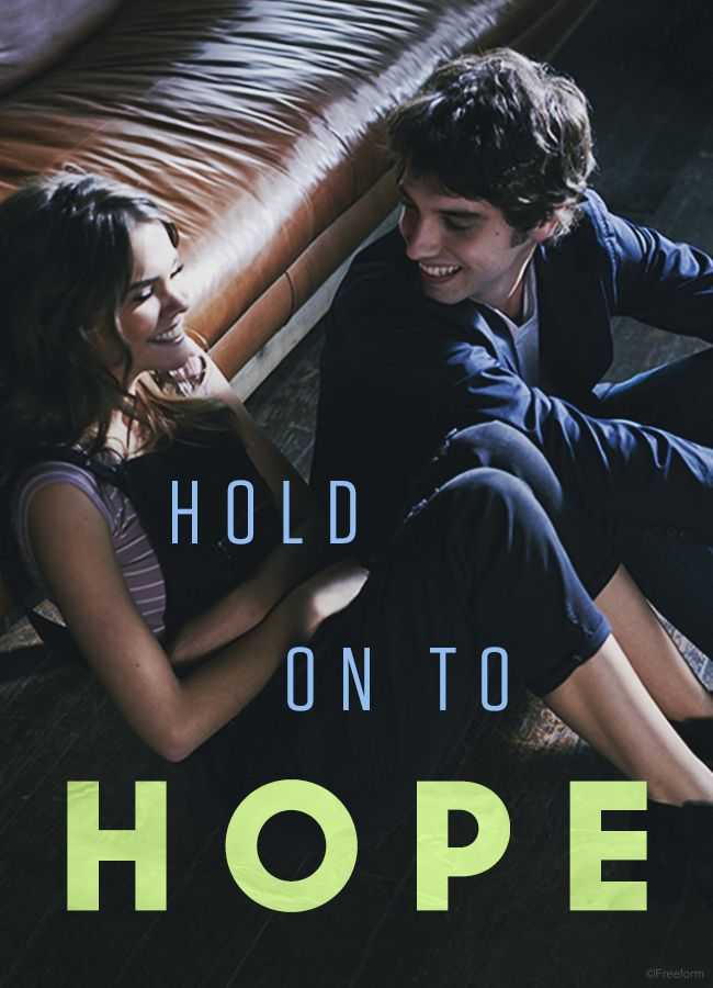 Hold on to hope. // Maia Mitchell and David Lambert are Callie and Brandon in The Fosters, only on Freeform. #Brallie