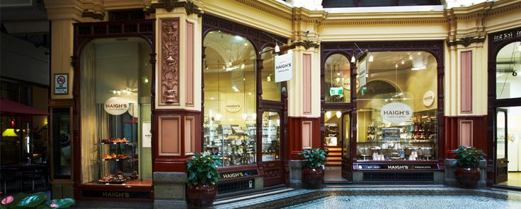 Our flagship store in Melbourne is located at the fashion end of Collins Street, in The Block Arcade. The historic Victorian building is undoubtedly the most beautiful shopping arcade in Australia.  Shop 7-8, The Block Arcade, 282 Collins Street, Melbourne, Victoria, Australia