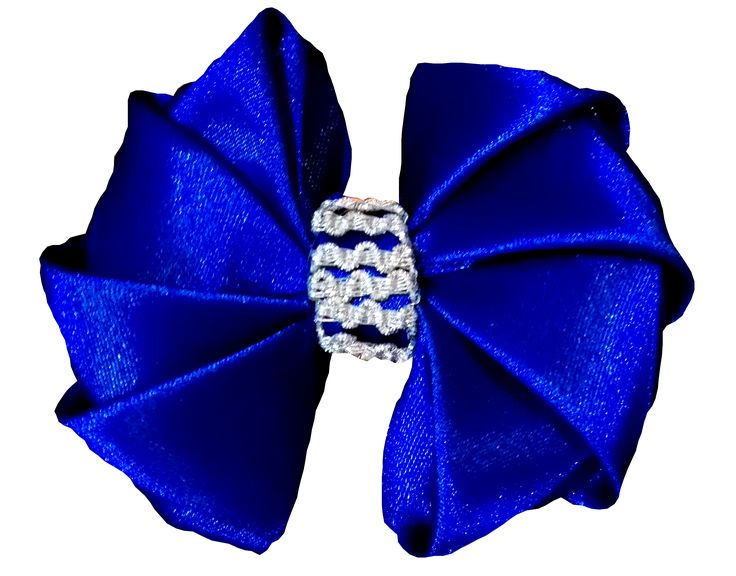 Blue Bow Hair clip / barrette / brooch. Available in an assortment of colours.