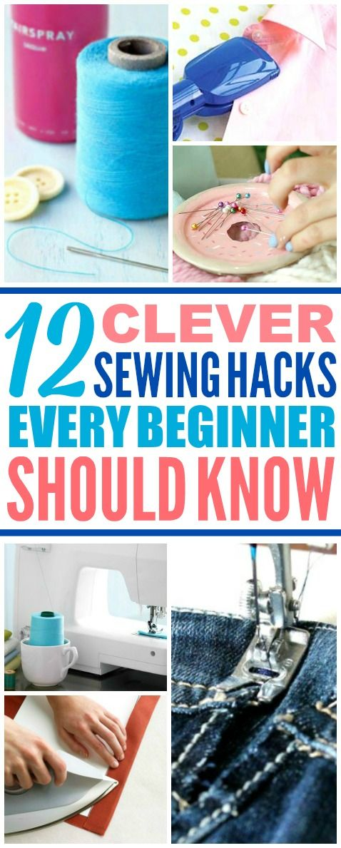 These easy sewing hacks are THE BEST! I'm so glad I found these AWESOME tips! Now I have some great sewing tips and tricks that'll make it faster and easier! Definitely pinning!