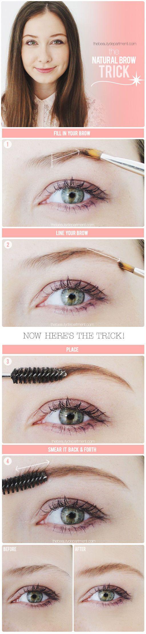 natural brow trick