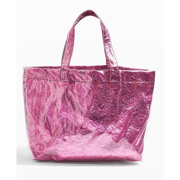 Topshop Sally Metallic Shopper Bag (185 ARS) ❤ liked on Polyvore featuring bags, handbags, tote bags, pink, purple tote, metallic purse, pink purse, metallic tote and shopper handbag