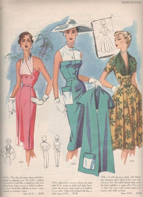 Modes Royale 1953-----Another  from Modes Royale------MY FAV. 50's patterns!!! ----Would STILL wear these!!!