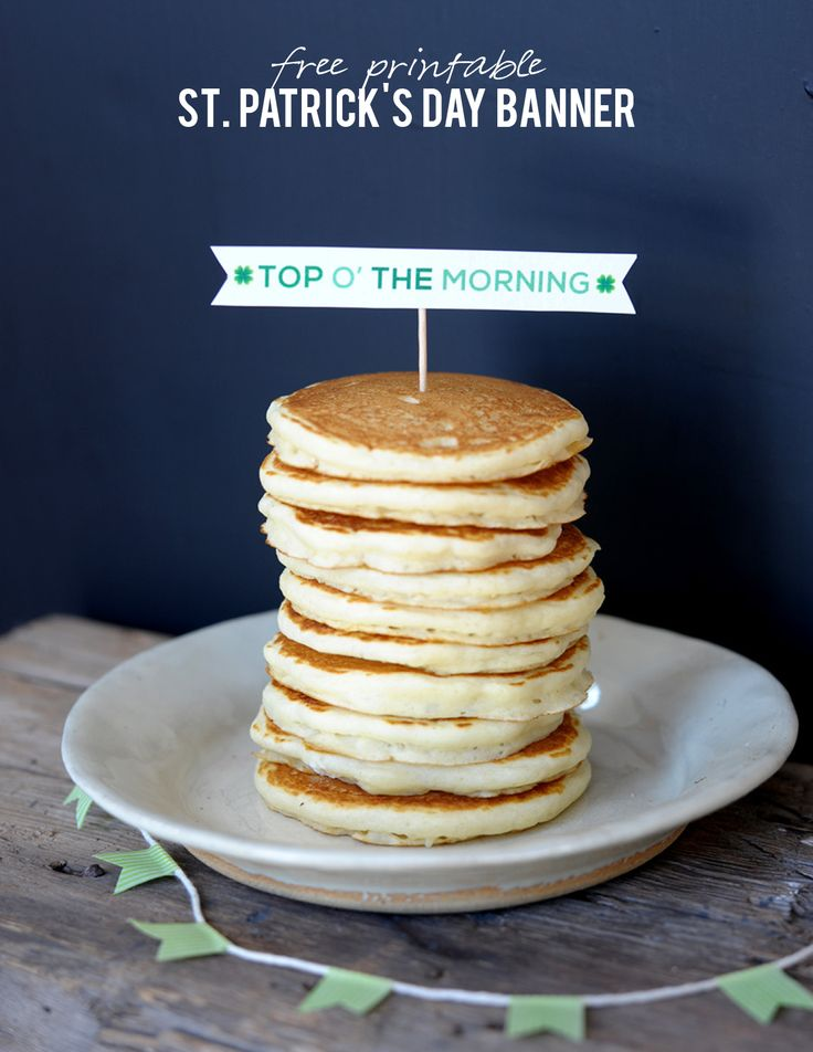 "Start the morning with some fun with this free printable for St. Patrick's Day. ""Top o' the Morning"" to you! 