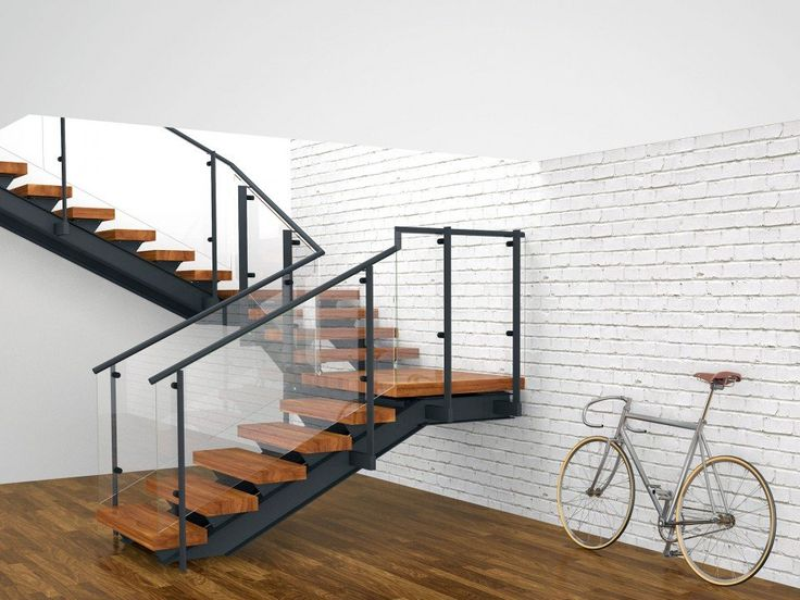17 best fabricated stairs images on pinterest staircases for Quarter landing staircase