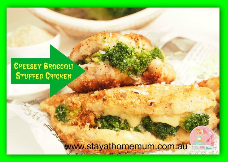 Cheese and Broccoli Stuffed Chicken | Stay at Home Mum
