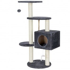 [en.casa] Tiragraffi per gatti (ca. 40 x 40 x 113 cm) Casine per le coccole / Piattaforme di ricognizione / In sisal / con numerose alternative per giocare e coccolarsi 32,00 €