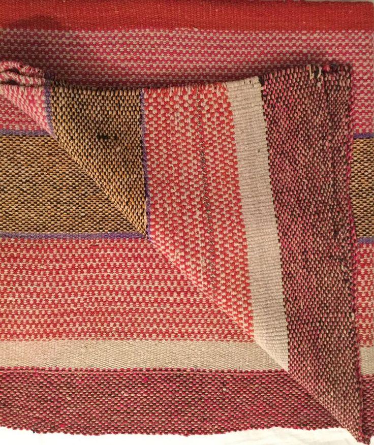 Peruvian Textiles Rug Frazada Blanket Handwoven Sheep Rug Christmas Gift #SouthAmerican