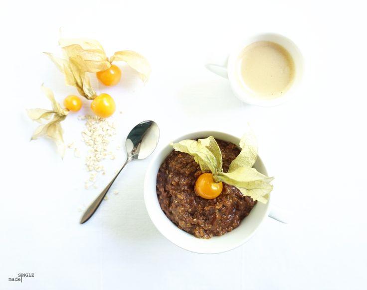 Mocha-Nutella porridge