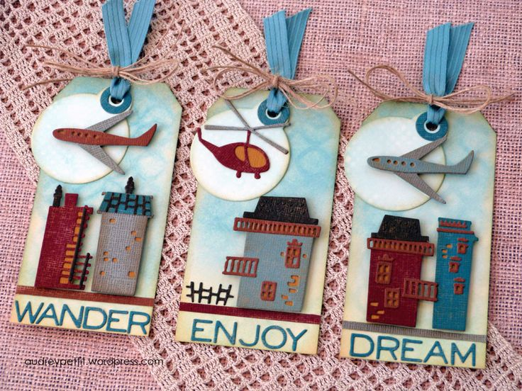 Dream big- make big with this DIY by Audrey featuring Tim Holtz's new Cityscapes collection! Get the full scoop on how to create these tags