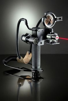Survival Slingshot Ultimate. Laser Sight, Trophy Ridge Whicker Biscuit and Tactical Light