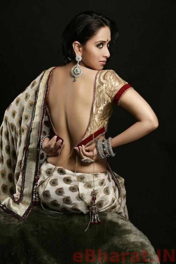 Monali Sehgal Spicy Hot Pose In Saree