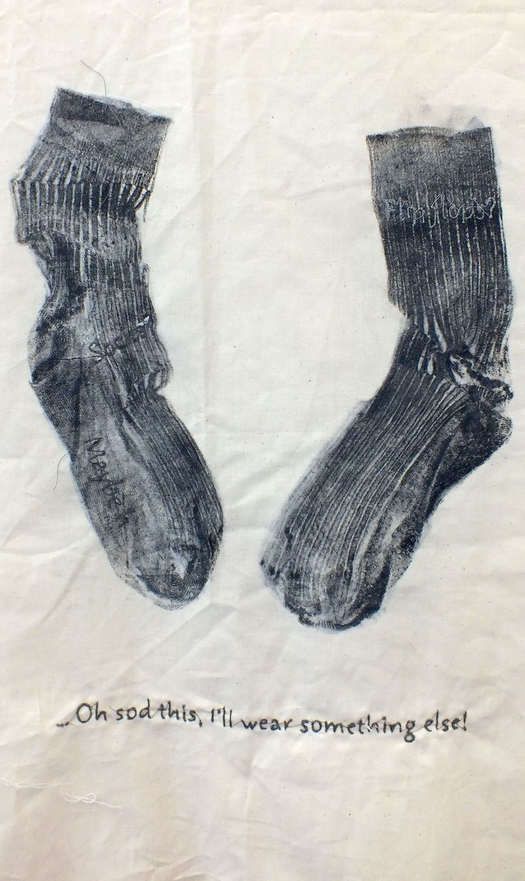 Ellie M - Monotype and Stitch -  detail - Truro College A Level Fine Art - Coursework Show 2017