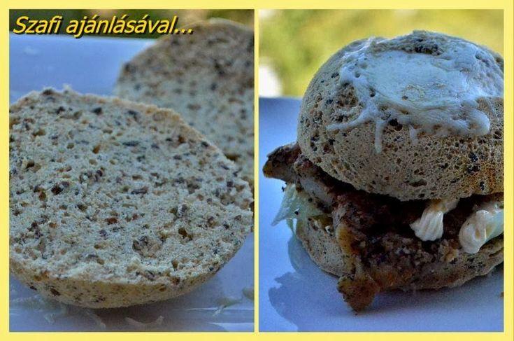 Gluténmentes mikrós hamburger zsömle (paleo hamburger zsemle) ~ Éhezésmentes Karcsúság Szafival