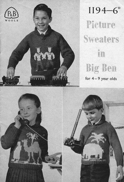 Vintage Babies and Childrens Fair Isle knitting patterns available from The Vintage Knitting Lady