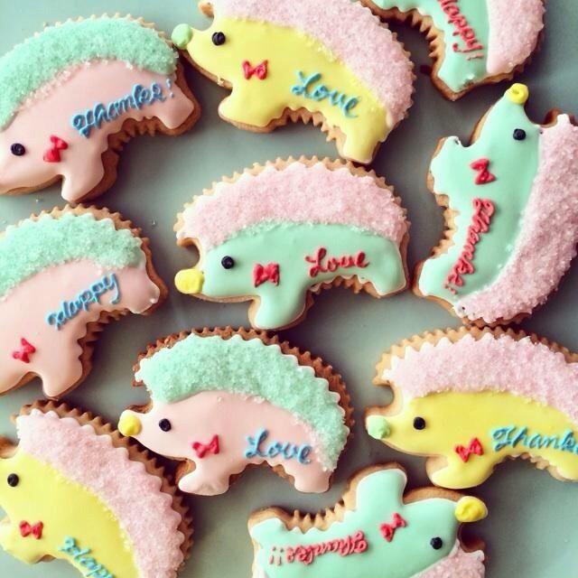 Pretty hedgehog cookies cute food pinterest for Carrelage 7 5 x 15