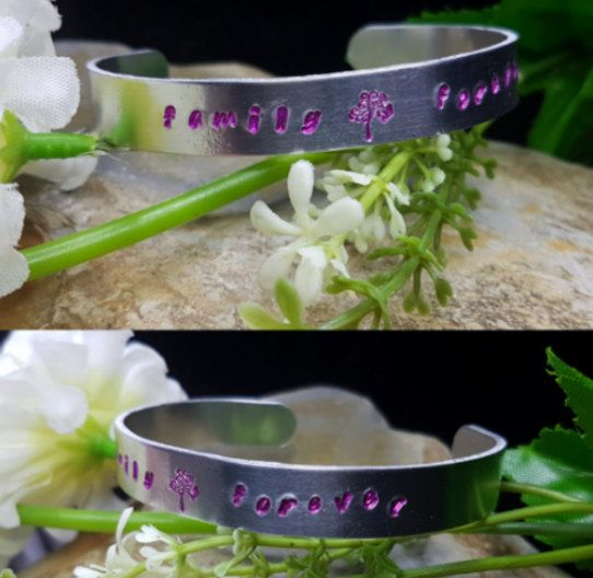 Hey, I found this really awesome Etsy listing at https://www.etsy.com/au/listing/485235291/family-forever-handstamped-cuff-bracelet