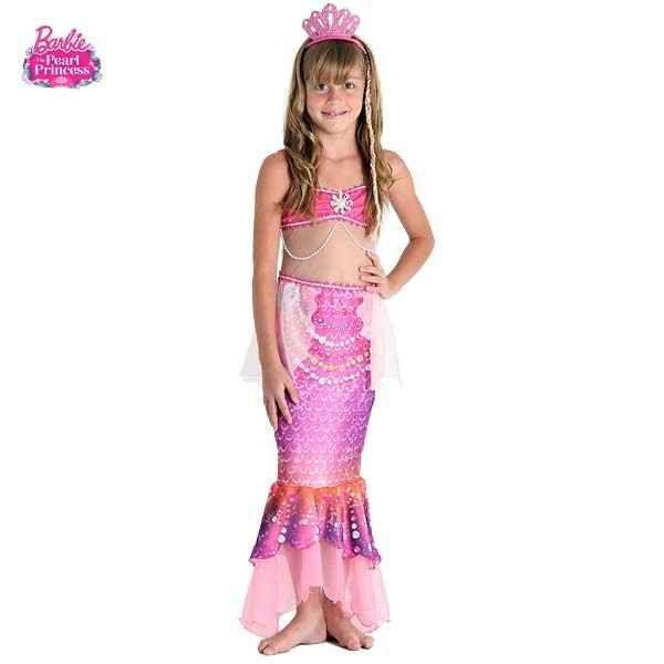 Fantasia Barbie Sereia das Pérolas