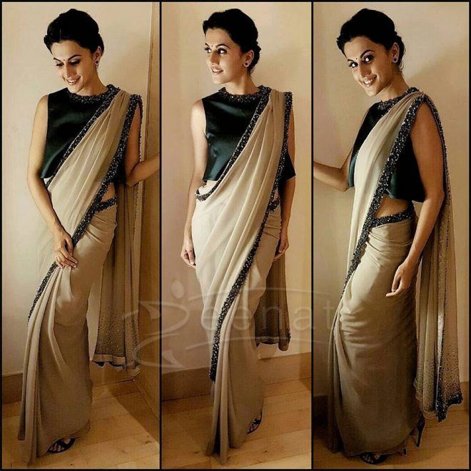 Taapsee Pannu in Pranati and Sahib Saree