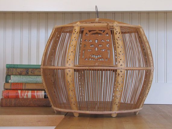 Hey, I found this really awesome Etsy listing at https://www.etsy.com/listing/178623961/asian-wooden-bird-cage-tunisian-style