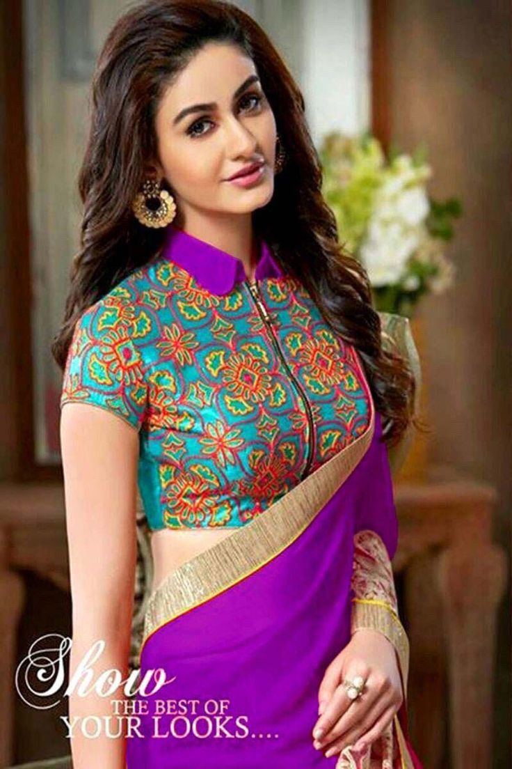 Online Shopping for Purple Georgette Party Wear Saree at best price. Huge…