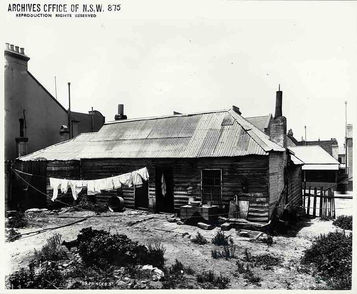 Rear of 89 Princes St. Rocks Resumption.  State Records NSW - Photo Investigator