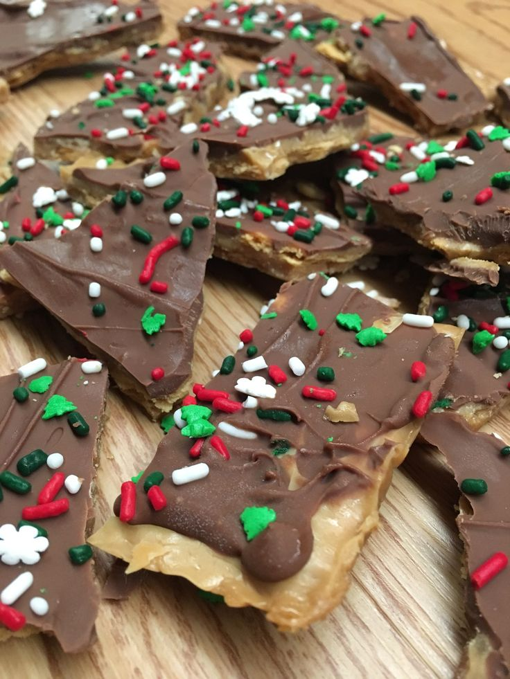 Easy Christmas Crack tastes a lot like Heath bars, with a delicious amount of chocolate on top. You can decorate the top for any holiday, including Christmas, Valentine's day, or any holiday in between.