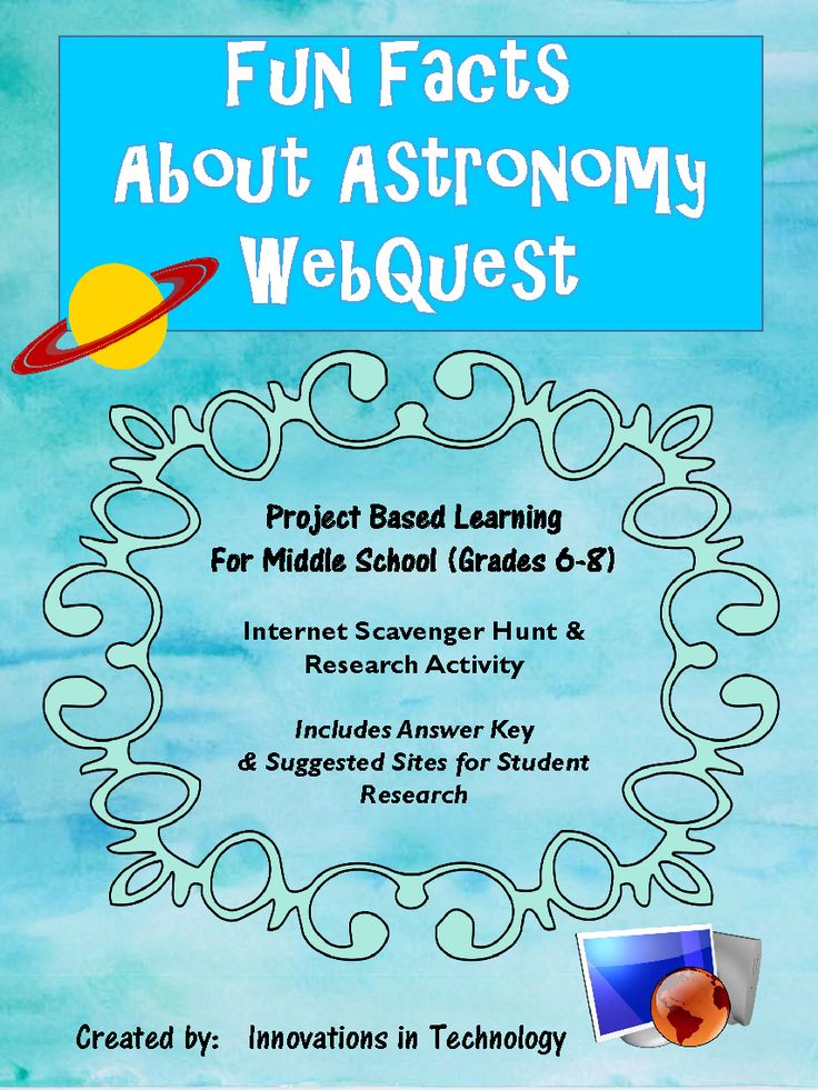 This webquest / Internet scavenger hunt is a perfect one day activity to learn more about astronomy.  Includes student handout, answer key and resources for students.