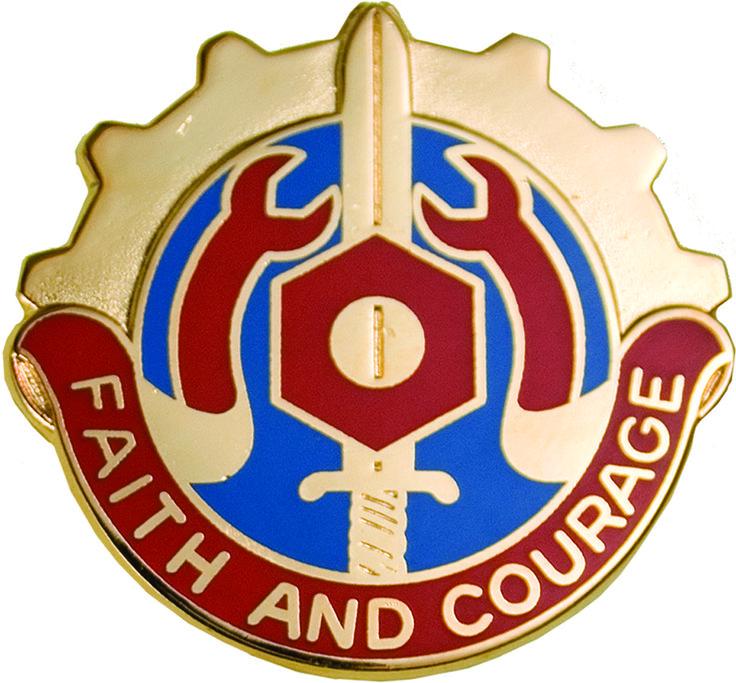 731 Maintenance Bn Unit Crest (Faith And Courage)