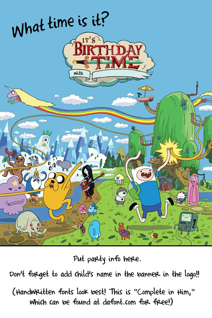 24 Best Birthday Adventure Time Images On Pinterest Animation