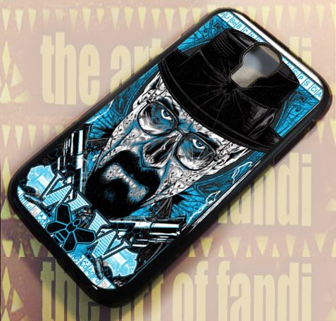Breaking Bad Heisenberg For Samsung Galaxy S4 Black Rubber Case