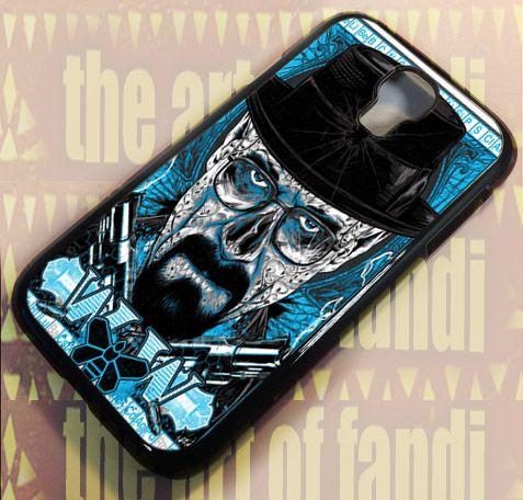 Breaking Bad Heisenberg For Samsung Galaxy S4 Black Rubber Case